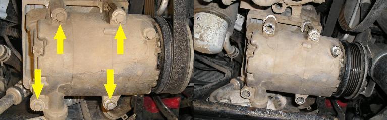 снятие компрессора кондиционера форд фокус 2