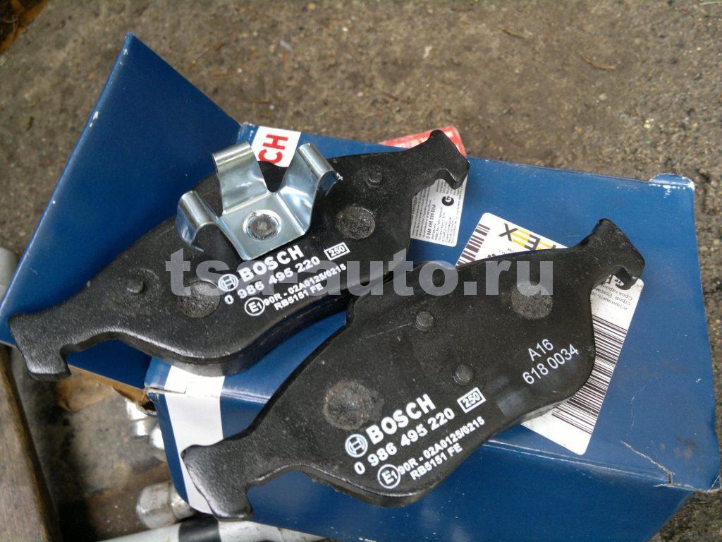 Тормозные колодки фьюжн передние - Bosch 0 986 495 220