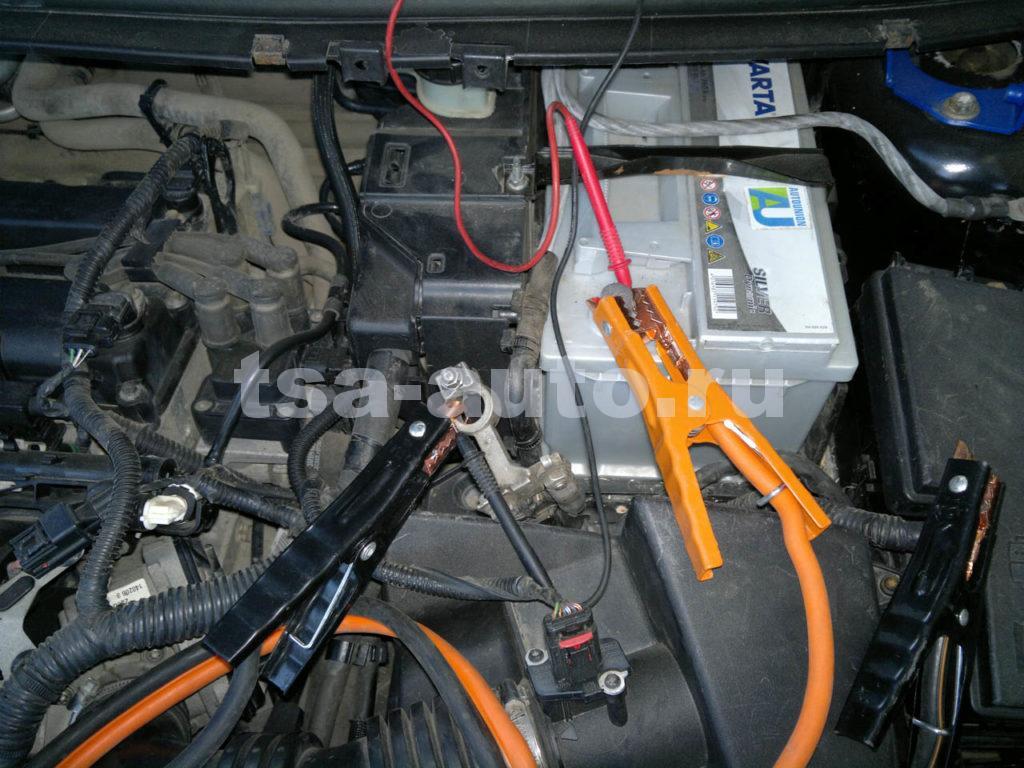 схема подключения мультиметра для замера тока утечки в Форд Фокус 2