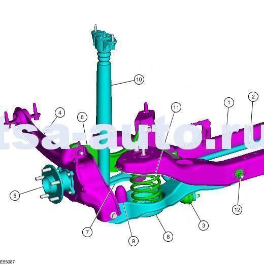схема задней подвески Форд Фокус 2